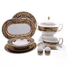 Столовый сервиз на 6 персон Falkenporzellan Natalia cobalt gold 27 предметов