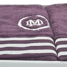 Набор полотенец Maison Dor бордовый delon 85*140/50*100/30*50 (3 шт)