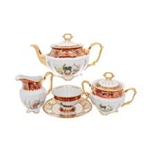 Чайный сервиз Repast Охота красная Мария-тереза 15 предметов на 6 персон