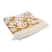 Полотенце с бахромой Arya Home Beluca желтый 70*140