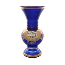 Ваза для цветов Bohemia Лепка синяя 22*11 см, 550 гр