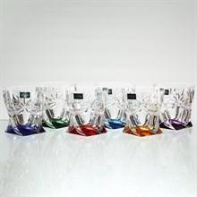 Набор стаканов для виски Ассорти Crystalite Bohemia Quadro 340мл (6 шт)