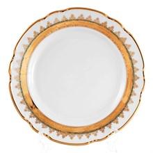 Набор тарелок Thun Констанция Изумруд Золотой орнамент 19см (6 шт)