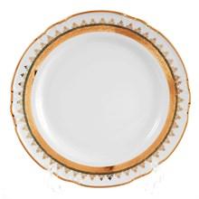 Набор тарелок Thun Констанция Изумруд Золотой орнамент 24см (6 шт)