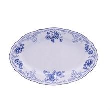 Блюдо овальное Bernadotte Синие розы 26 см