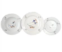 Набор тарелок Thun Констанция Гуси 18 предметов