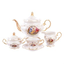 Чайный сервиз на 6 персон Carlsbad Фредерика Мадонна Перламутр 17 предметов