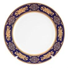 Набор тарелок Thun Луиза Золотая роза Кобальт 25см (6 шт)