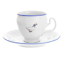 Набор мокко кофейных пар Bernadotte Гуси 90 мл(6 пар)