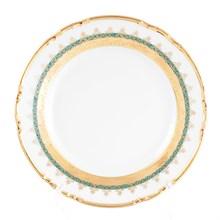 Набор тарелок Thun Констанция Изумруд Золотой орнамент 17см (6 шт)