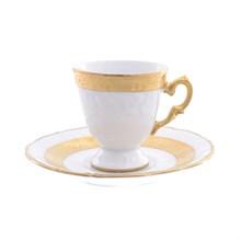 Набор кофейных пар мокко 100 мл Carlsbad Мария Луиза матовая полоса (6 штук)