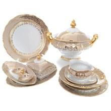 Столовый сервиз на 6 персон Queen's Crown Aristokrat Лист бежевый 27 предметов