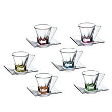 Набор чайных пар RCR Fusion COLOUR 12 предметов 70мл (6 пар)