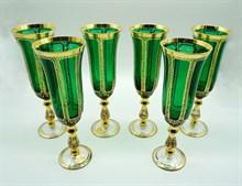 Набор бокалов для шампанского Imperator green 6 штук