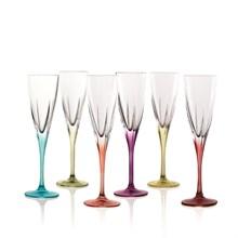 Набор фужеров для шампанского RCR Fusion COLOUR 170мл (6 шт)