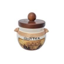 Банка для кофе с деревянной крышкой LCS Натюрморт диаметр 9 см, высота 9 см