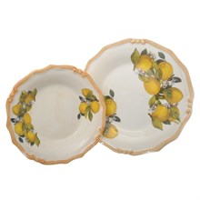 Набор тарелок из 2-х шт LCS Лимоны (глубокая 24 см., подстановочная 25 см)