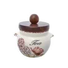 Банка для чая с деревянной крышкой LCS Сады Флоренции диаметр 9 см, высота 9 см