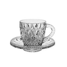 Набор для кофе Bohemia Crystal Diamond (2 чашки + 2 блюдца)