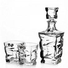 Набор для виски, 1 штоф 750 мл + 6 стаканов (300 мл) ZIG ZAG
