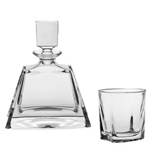 Набор для виски, 1 штоф 700 мл, низкий + 6 стаканов (280 мл) KATHRENE