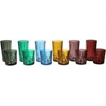 """Набор стаканов для воды """"BRIXTON COLOR"""" 6 цветов, 350 мл (набор 6 шт.)"""