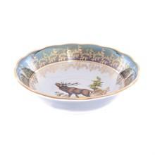 Салатник Sterne porcelan Охота Зеленая 25см