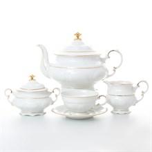 Чайный сервиз на 6 персон 17 предметов Leander Соната Отводка золото