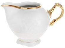 """Молочник 200 мл; """"Tulip"""", Белоснежный тюльпан, золотые держатели"""