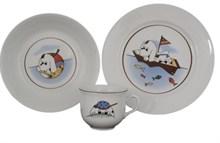 """Детский набор """"Angelika"""", 3 предмета; декор """"Мореплаватели""""; в подар. упаковке"""