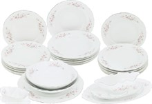 Столовый набор на 6 персон Bernadotte Бледные розы отводка платина 25 предметов