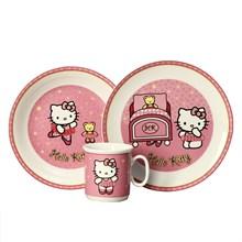 "Детский набор ""Cairo"", 3 предмета; декор ""Hello Kitty"", розовый; в подар. упаковке"
