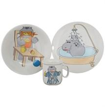 """Детский набор """"Cairo"""", 3 предмета; декор """"Бегемотик""""; в подар. упаковке"""