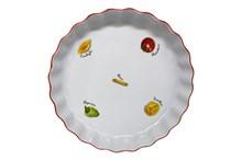 """Блюдо круглое 26 см; декор """"Паста""""; жаропр. фарфор"""