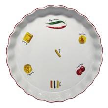 """Блюдо круглое 30 см; декор """"Паста""""; жаропр. фарфор"""