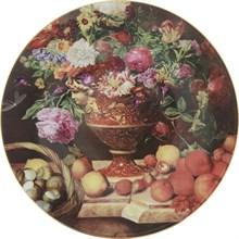 "Тарелка настенная 27 см; декор ""Натюрморт с цветами"""