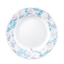"""Блюдо круглое мелкое """"Rose"""" 30 см; декор """"Голубая роза"""""""