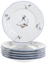 "Набор тарелок десертная 17 см 6 штук; ""Bernadotte"", декор ""Гуси"""