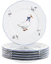 Набор тарелок десертных 19 см Bernadotte Гуси (6 штук)