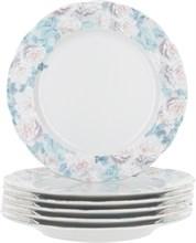 """Набор тарелок десертная """"Rose"""" 19 см 6 штук; декор """"Голубая роза"""""""