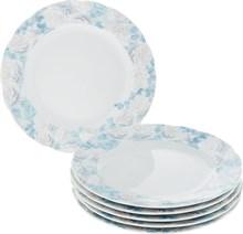 """Набор тарелок мелкая """"Rose"""" 25 см 6 штук; декор """"Голубая роза"""""""