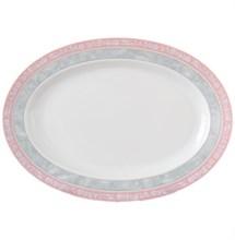 """Блюдо овальное 24 см; """"Jana"""", декор """"Серый мрамор с розовым кантом"""""""