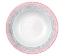 "Набор тарелок глубокая 22 см; ""Jana"", декор ""Серый мрамор с розовым кантом"""