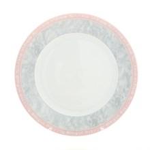"""Набор тарелок мелкая 21 см 6 штук; """"Jana"""", декор """"Серый мрамор с розовым кантом"""""""