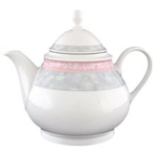 "Чайник 1200 мл; ""Jana"", декор ""Серый мрамор с розовым кантом"""