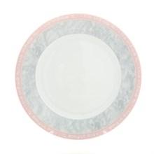 """Блюдо мелкое 30 см; """"Jana"""", декор """"Серый мрамор с розовым кантом"""""""