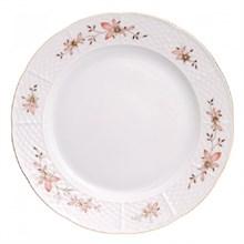 """Набор тарелок мелкая 24 см 6 штук; """"Menuet"""", декор """"Золотые ветки, отводка золото"""""""