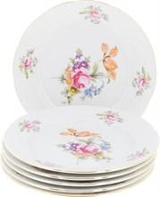 """Набор тарелок десертная 19 см 6 штук; """"Menuet"""", декор """"Мейсенский цветок, отводка золото"""""""