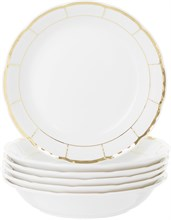 """Набор тарелок COUPSOUP 19 см  6 штук; """"Menuet"""", декор """"Отводка золото, золотые держатели"""""""
