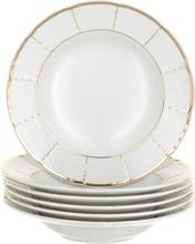"""Набор тарелок глубокая 23 см 6 штук; """"Menuet"""", декор """"Отводка золото, золотые держатели"""""""